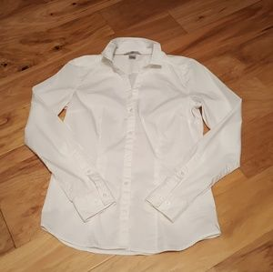 H&M White Button Front